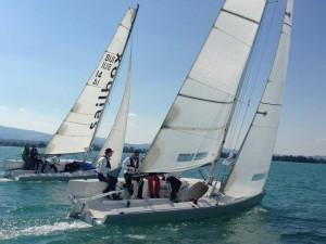 zwei mOceans hart am Wind im Match Race