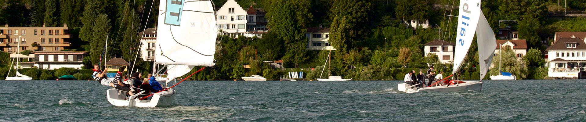 zwei mOceans vor Herrliberg am insign Cup 2013 mit ziemlich Wind