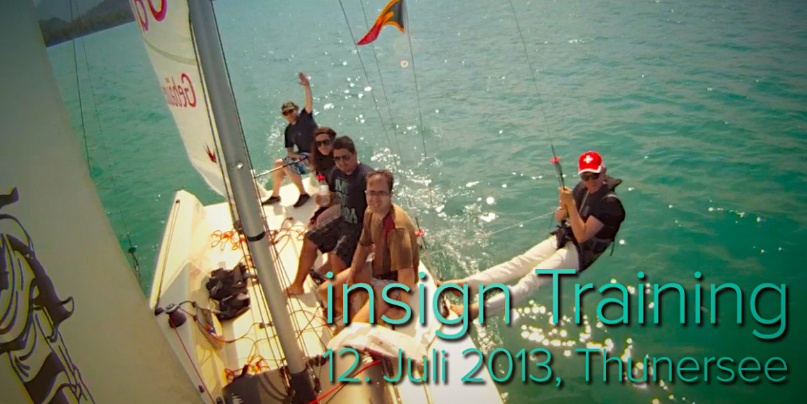 insign Intensiv-Training auf dem Thunersee - Juli 2013